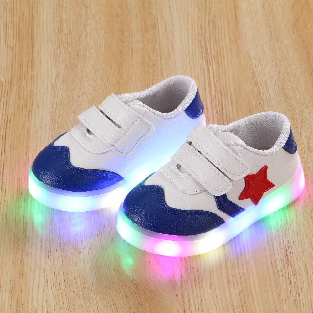 sneaker fashion boys unisex up sports shoes flats breathable led light dopeme amazon kids dp com running