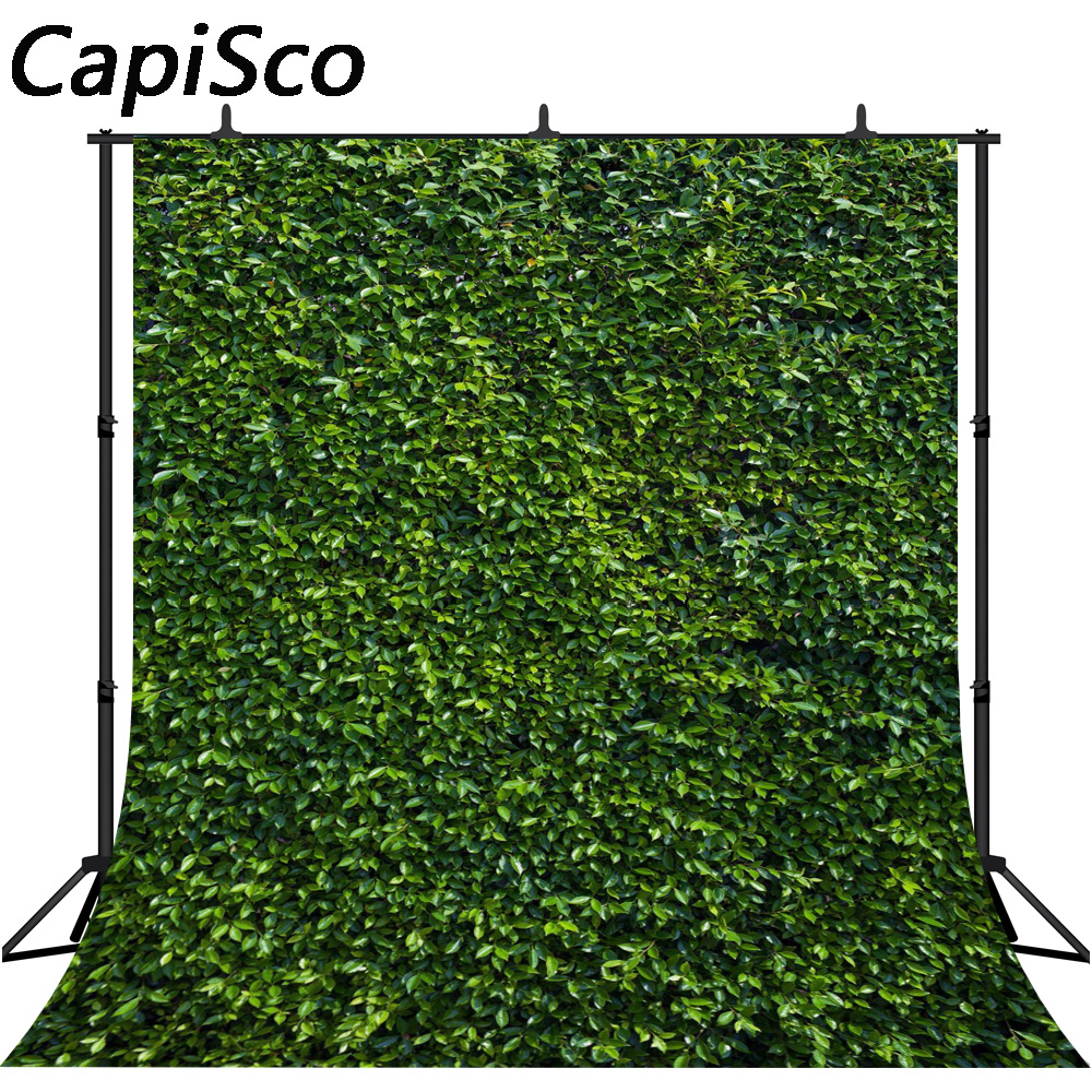 Capisco photography backdrop Leaves wall green nature baby shower children Wedding party background photo studio photocall in Background from Consumer Electronics