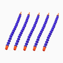 5pcs Round Nozzle Plastic Flexible Water Hose with Switch 1/4 PT Oil Coolant Pipes for cnc router lathe flat nozzle adjustable flexible 1 4 pt thread water oil coolant pipe hose