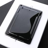 case ipad SLINE TPU Case For Apple Ipad Air 2 Case Black Silicon Soft Protection Cover For iPad air 2 iPad 6 iPAD6 Soft Tablet Bumper Bag (1)
