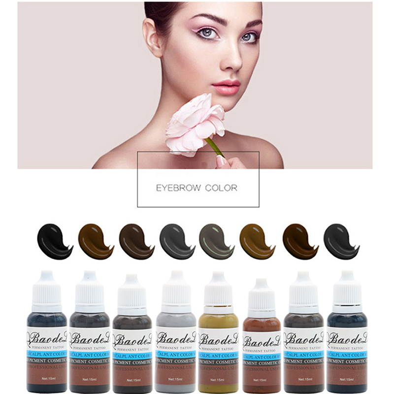 2019 New Tattoo Ink Permanent Microblading Pigmentos Make-Up Set 15ml Cosmetic Mini-Pigment Cosmetic Eyebrown Lip Tattoo pigment2019 New Tattoo Ink Permanent Microblading Pigmentos Make-Up Set 15ml Cosmetic Mini-Pigment Cosmetic Eyebrown Lip Tattoo pigment