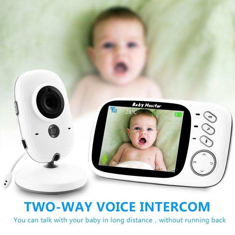 VB603 Monitor de bebé de Color de vídeo inalámbrico con LCD de 3,2 pulgadas de 2 vías Audio hablar visión nocturna vigilancia cámara de seguridad niñera