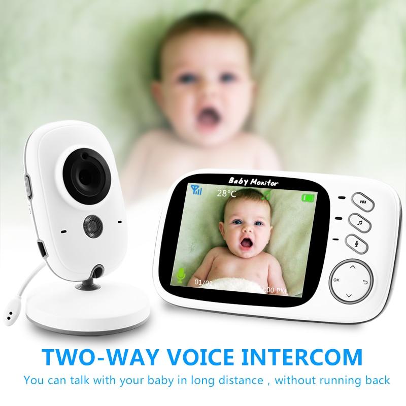 VB603 Wireless Video a Colori Baby Monitor con 3.2 Pollici LCD 2 Audio Bidirezionale di Colloquio Night Vision Telecamera di Sorveglianza di Sicurezza Macchina Fotografica Baby Sitter