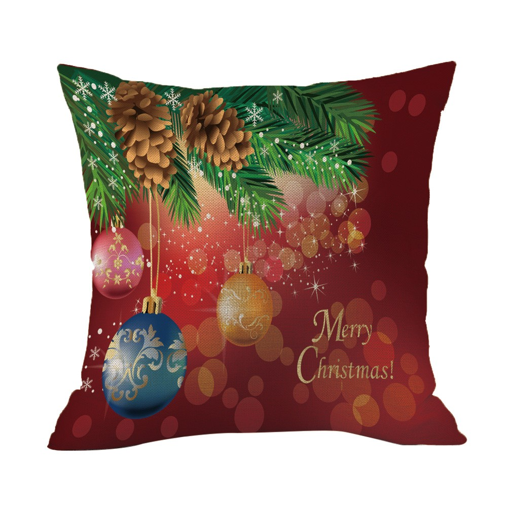 aliexpresscom buy merry christmas throw pillow case xmas bells decorative pillows cover for sofa seat cushion cover 45x45cm home decor from reliable