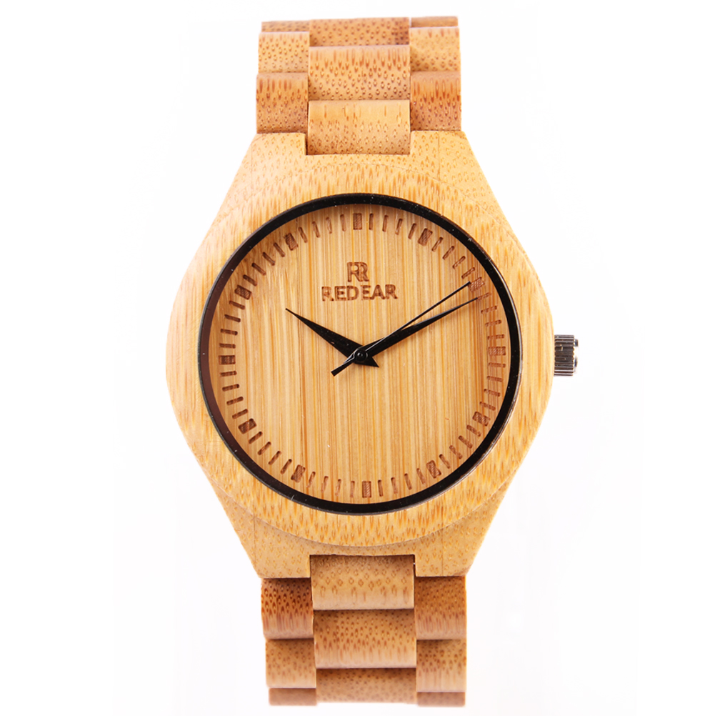REDEAR New Top Brand Fashion Men Women Bamboo Wood Watches Luxury Sandalwood Natural Wooden Watches Men Couple Gift P25 south korea creative concept fashion personality women men couple watches new trend minimalist gift watches