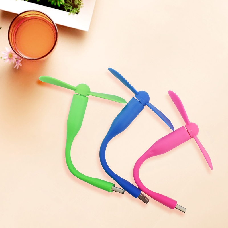 Mini USB Fan Flexible Portable Bendable Removable Ventilador USB Gadget Low Power Gadgets For Powerbank For PC For Laptop OTG