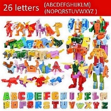 Building blocks digital Transformers letters shaped children learning toys plastic LIN TING HAN