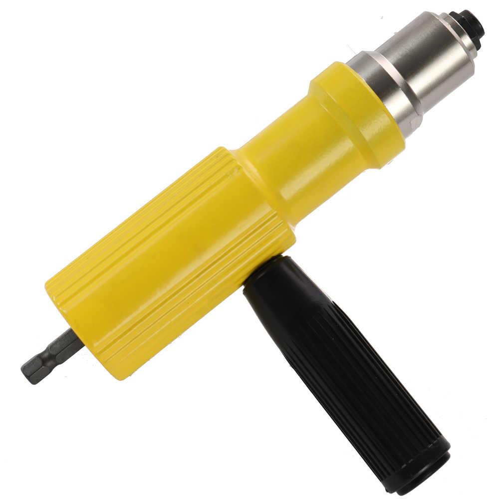 Электрический заклепки гайка пистолет для татуажа клепки инструмент беспроводные клепки Дрель адаптер клепальщик вставить инструменты гайки для 3,2-4,8 мм