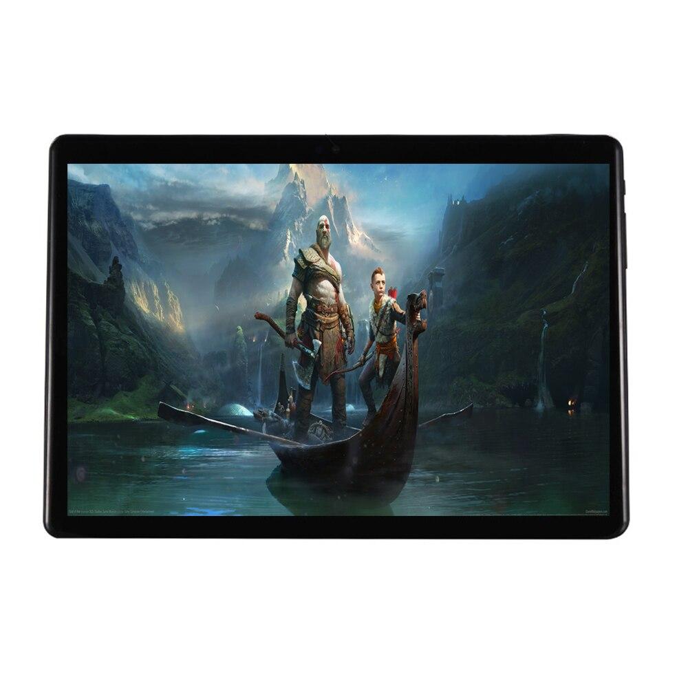 Super Temperato 2.5D di Vetro 10 pollice tablet pc Octa Core 4 gb di RAM 32 gb di ROM 1280x800 IPS schermo GPS del Android 7.0 3g Tablet 10.1 + Regalo
