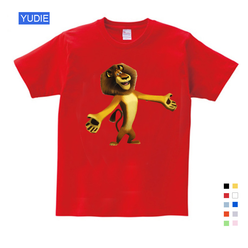 Best Sellers Cartoon Printing Madagascar Summer New T Shirt Alex Marty Cute Funny T Shirt Summer Send Children Birthday Gift image
