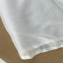 Pure White Silk Chiffon Fabric 100% Mulberry Silk Use Wedding Dress Silk Scarf DIY(China)