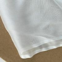 Pure White Silk Chiffon Fabric 100% Mulberry Silk Use Wedding Dress Silk Scarf DIY