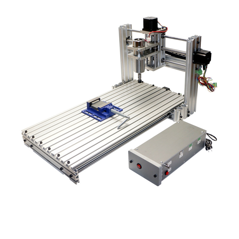 CNC milling machine DIY 6030 3060 Mini CNC router working area 29X57X9cm PCB engraving Machine diy cnc 3060 engraving machine 400w wood milling router 6030 ball screw cutting engraver lathe frame