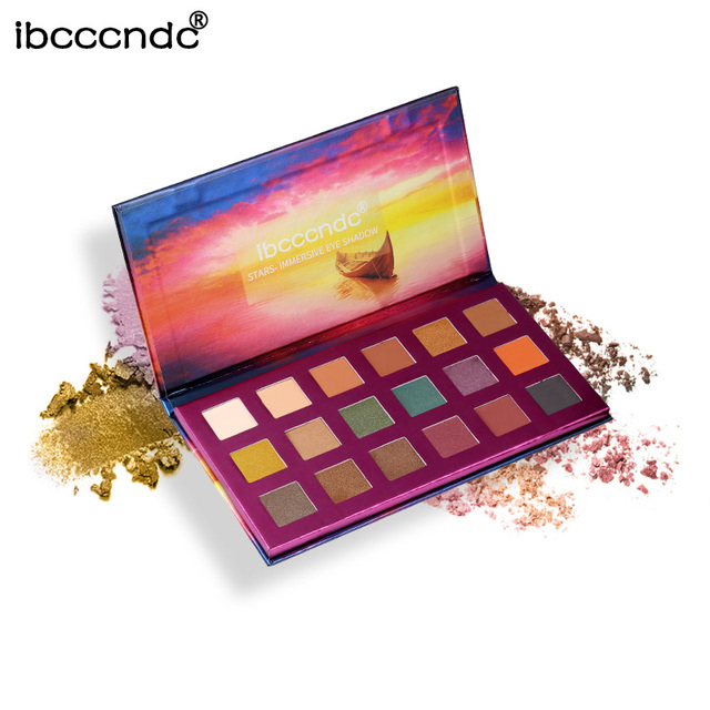 New 18 Colors Eye Shadow Palette Natural Shimmer Glitter Matte Eyeshadow Powder Brand Makeup Professional Eyes Pallete Maquiagem