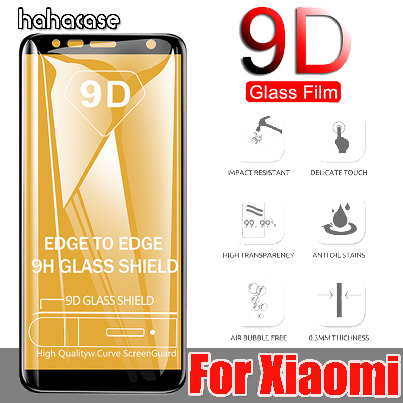 50pcs 9D Full Cover Curved Tempered Glass Screen Protector For Xiaomi Redmi Note 7 6 Pro