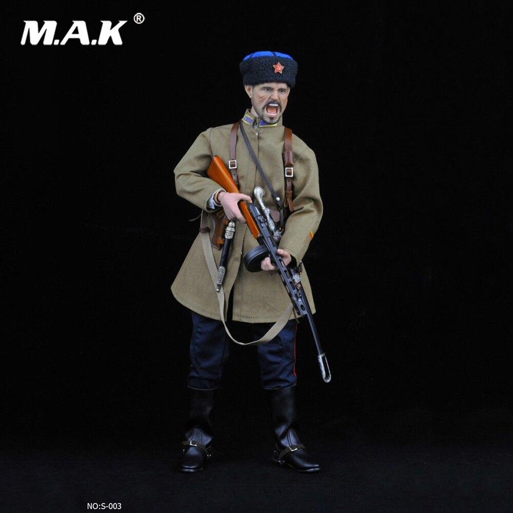 No: s003 1/6 Échelle Figure Accessoire Soviétique SECONDE GUERRE MONDIALE Cosaque Cavalerie Uniforme Vêtements Arme Ensemble Modèle pour 12 ''Action Figure Corps