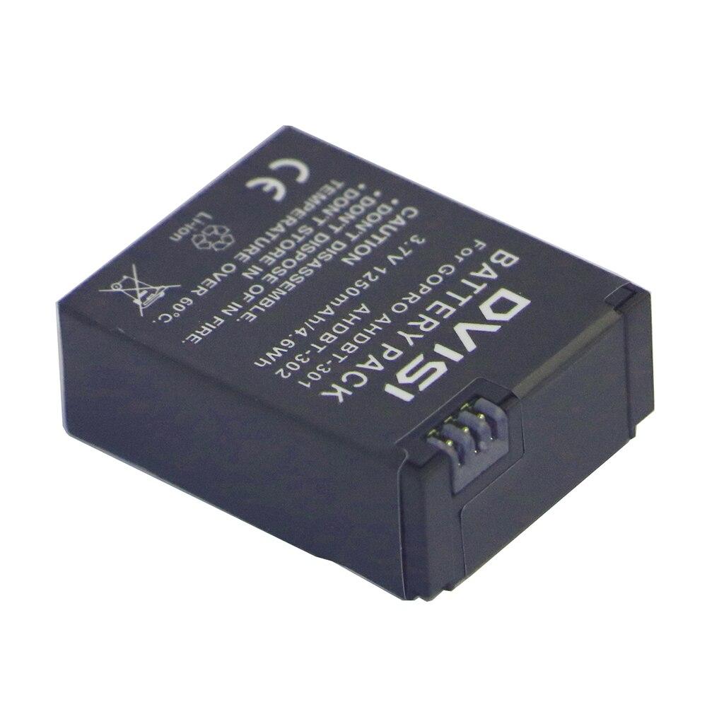 1250mAh AHDBT-301 AHDBT301 AHDBT301 AHDBT302 Rechargeable Battery for GoPro HERO3+ HERO3 and GoPro AHDBT-201 AHDBT-301 AHDBT-302 аксессуар к экшн камере gopro rechargeable battery for hero4 ahdbt 401