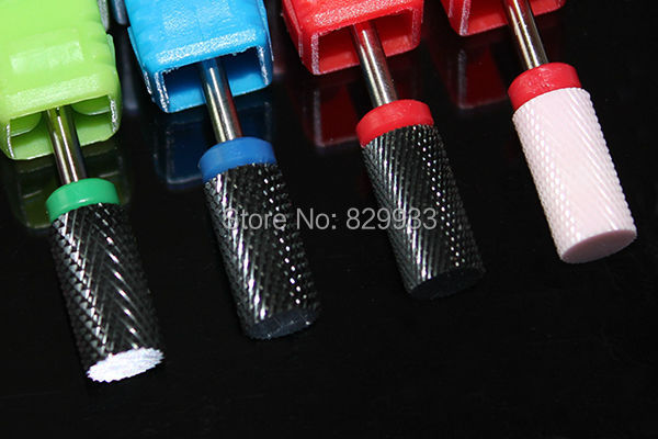 New Cylinder Ceramic Nail Drill Bits Electric Manicure Pedicure Nail Salon Machine Tools for Sawdust-artificial Nails Cleaner