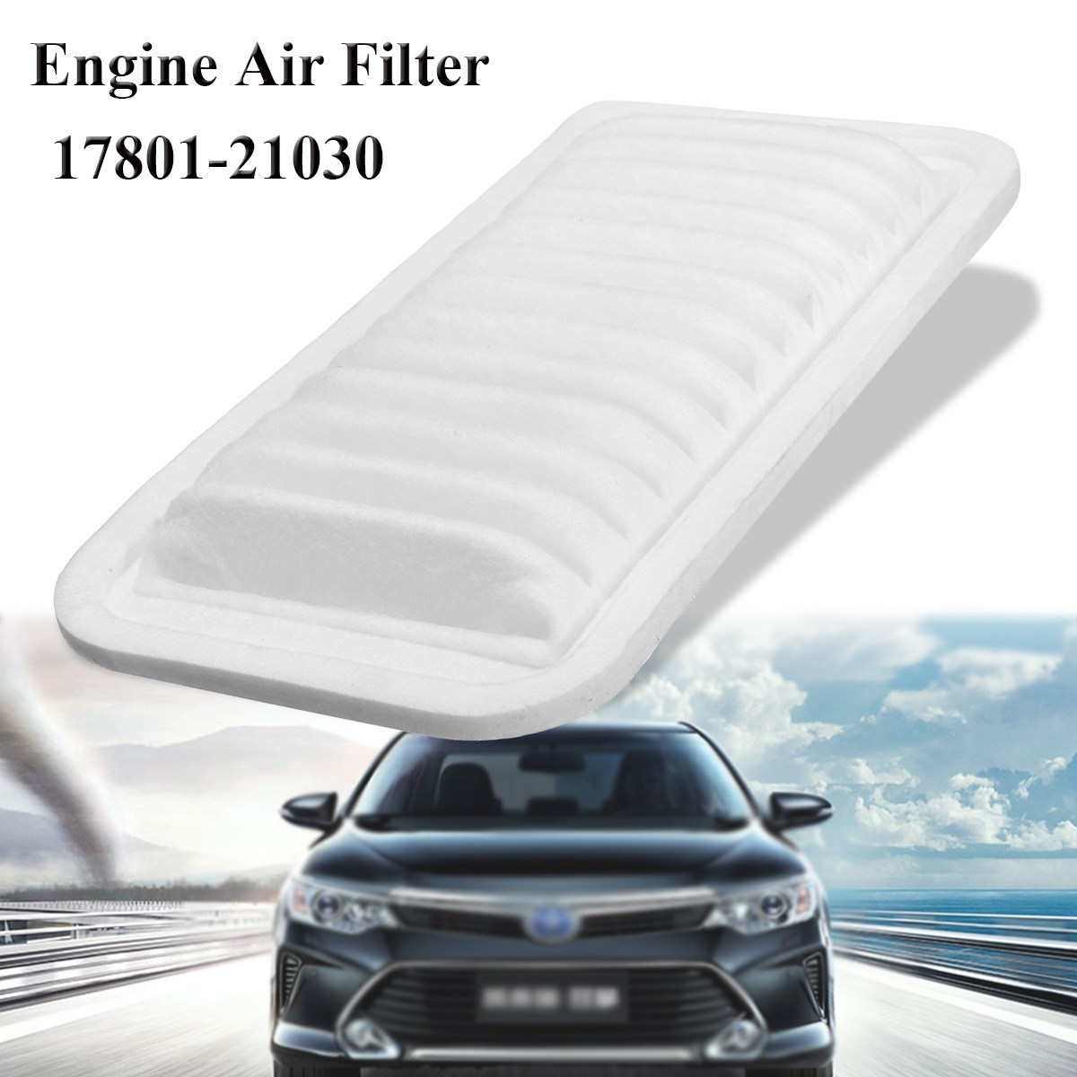Engine air filter for toyota yaris echo scion xa xb 2000 2005 17801