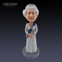 Queen Elizabeth II car decor princess figure statue London sculpture teaching model picture frame wedding gift garden home decor
