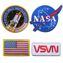 USA Flag Embroidery Patch MA1 Alien Astronaut Embroidered Patches Military Tactical Armband Caps Bags Badge Applique Badges