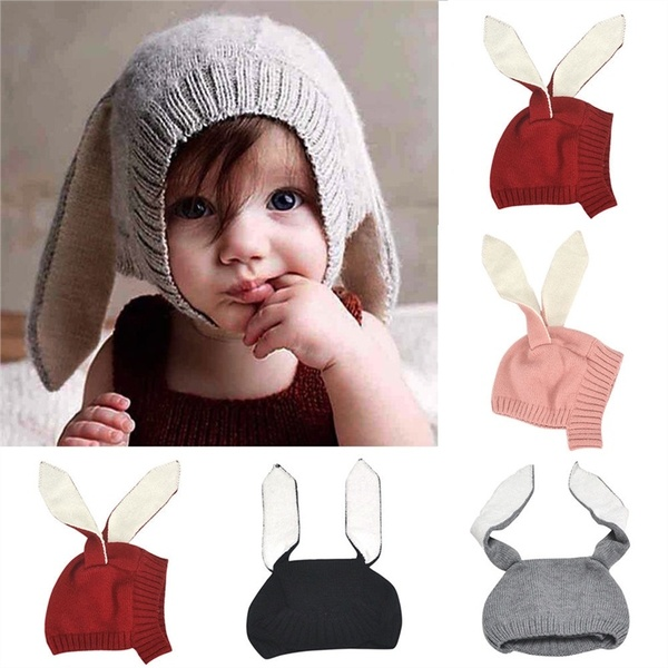Costumes & Accessories Hard-Working Baby Boys Girl Rabbit Bunny Ears Hat Toddler Crochet Knitted Earflap Hat Warm Cap Cosplay Rabbit Bunny Hat Child Cosplay Gift Latest Fashion
