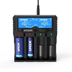 Image 1 - Oryginalny nowy XTAR DRAGON VP4 PLUS inteligentna bateria ChargerSet z etui sondy Adapter i ładowarka samochodowa dla 18650 i akumulator