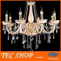 Best Price European Pastoral Crystal Chandelier Mediterranean Living Room Light Bedroom Crystal Lamp Modern Lighting Fixtures