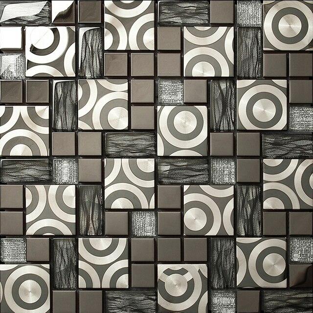azulejo de mosaico de cristal azulejos de mosaico del metal la decoracin del hogar moderno diseo - Azulejos Modernos