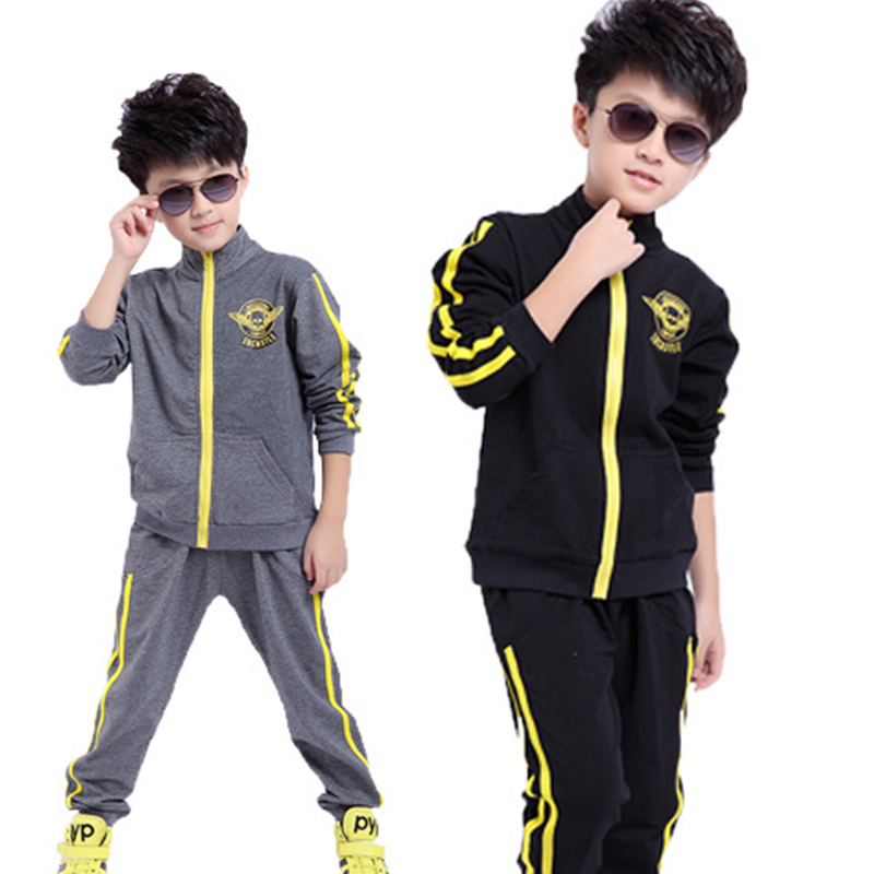 Baby Boy Sport Suit Fashion Tracksuit For For Boy Autumn Boys Clothes Set Long Sleeved Cotton Outwear Jacket +Pants Kids Suit eaboutique new winter boys clothes sports suit fashion letter print cotton baby boy clothing set kids tracksuit