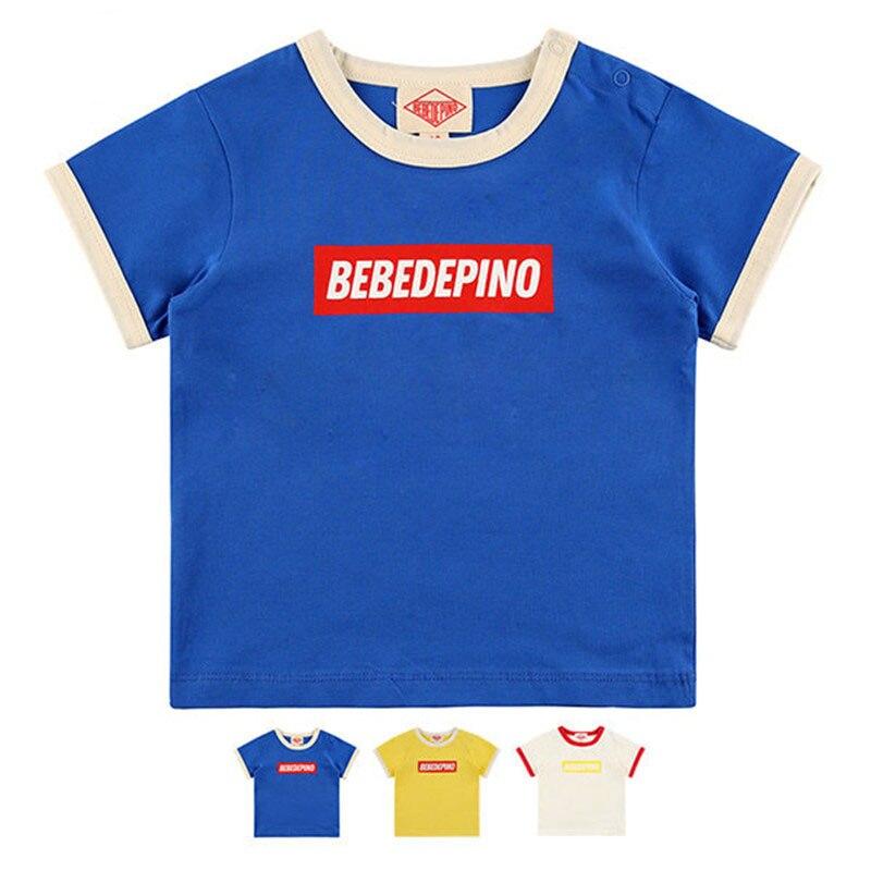 Enkelibb Tops T-Shirt Girls Baby Design Boys Summer Lovely Cute And Bebe Korean for Brand