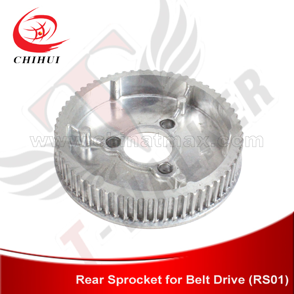 Electric Scooter Rear Belt Pulley Motor 65Teeth Pulley for Belt Drive Motor Belt Sprocket ( Scooter Parts & Accessories)