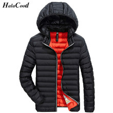 Hot Sale Winter Men Thin Jacket 2017 New Brand High Quality Candy Color Warmth Mens Jackets And Coats Thin Parka Men Outwear XXL