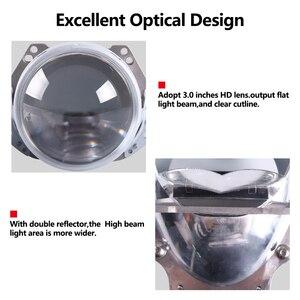Image 5 - Sanvi 2 adet 70W 5500K araba LED far 3 inç Bi LED projektör Lens far motosiklet araba ışık güçlendirme kiti otomatik LED