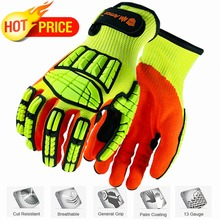 NMSafety New Mechanic gloves Anti Vibration Cut-Resistant Safety Hand Glove Working Protection nmsafety anti vibration oil safety glove shock absorbing mechanics impact resistant work glove