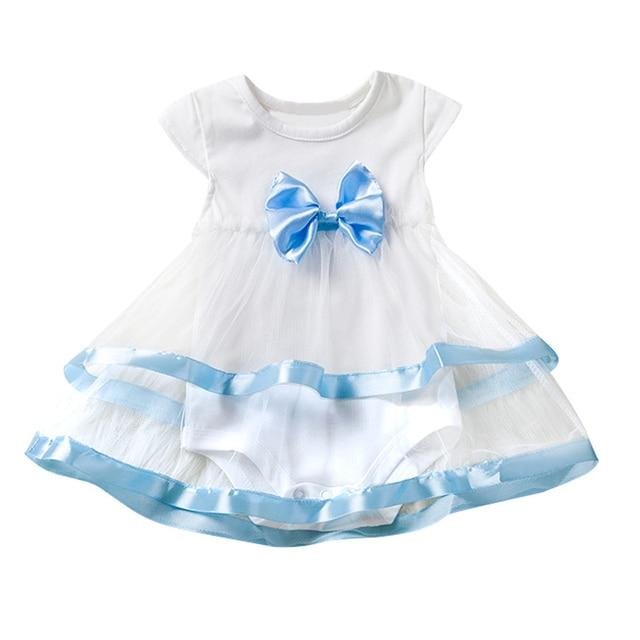 Neue Geboren Baby Taufe Kleid Sommer Baby Strampler Für Mädchen ...