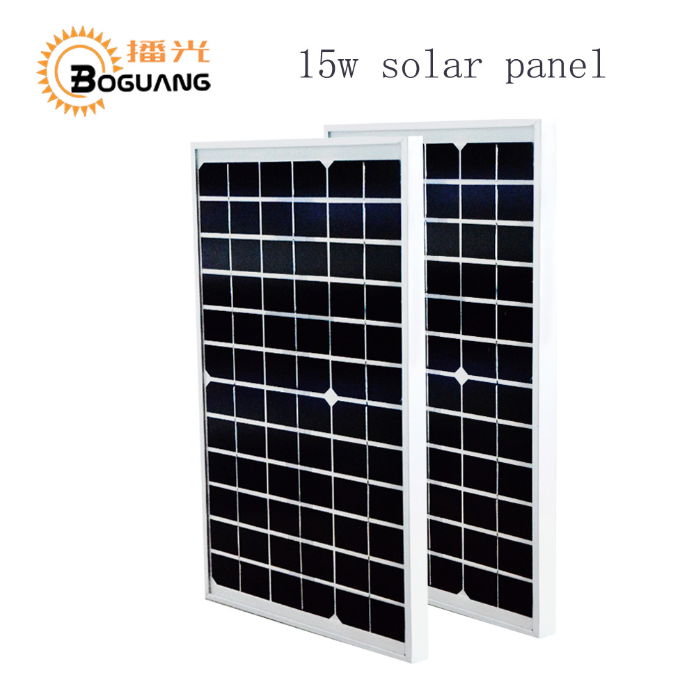 BOGUANG 2pcs 15W 18V solar panel glass monocrystalline cell module DIY kits for toys light led science toy experiment outdoor high conversion rate and high efficiency output 18v 100w monocrystalline solar panel semi flexible diy solar module for boat rv
