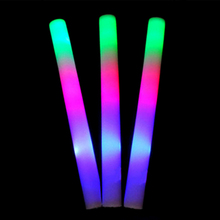 20 Pcs Colorful Flashing Glow Batons Light Stick Shiny Sponge Sticks Chopsticks Rally Party Luminous Baton Led Foam Stick все цены