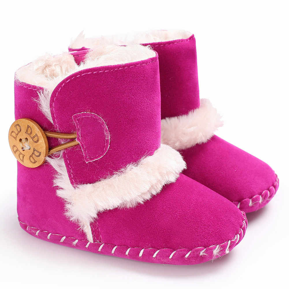 Новая детская обувь для мальчиков и девочек; зимние ботинки; повседневная детская обувь с мягкой подошвой для маленьких девочек 0-18 месяцев