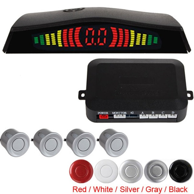 High Quality & Easy Installation Intelligent Digital LED Car Parking Sensor System with 4 Sensors 5 colors Optional