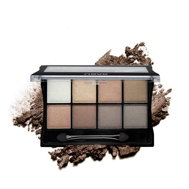 NOVO 8 cores Da Paleta Da Sombra de Maquiagem Sombra de Olho Cosméticos Composto Paletas de Sombras Smoky Olhos Cor de Terra