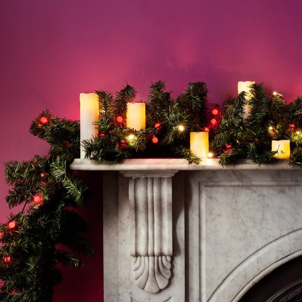 6 Pieces Skinny Real Wax Battery Operated LED Flameless Pillar Candles light Christmas Eve Party Decoration 6 Sizes