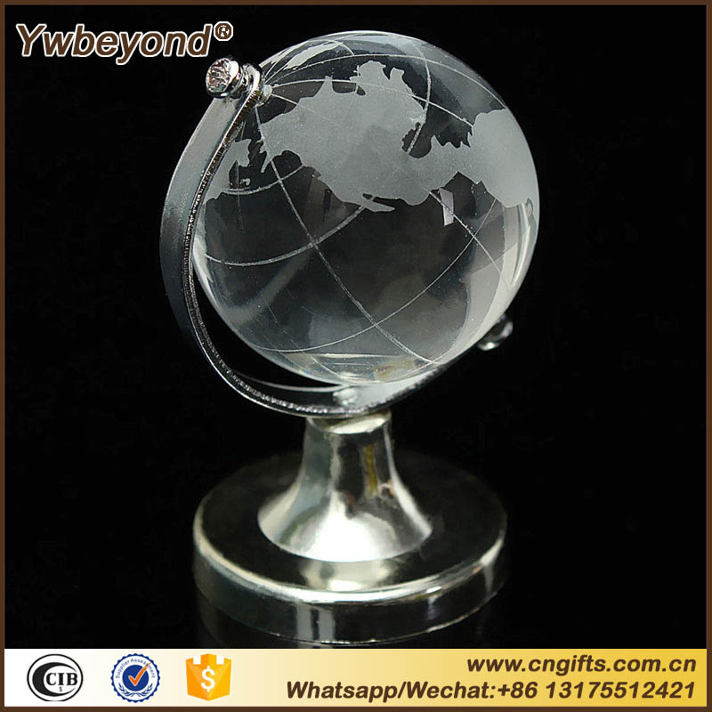 Glass Plastic Transparent World Globe Crystal Glass Clear Desk Decor Wedding Favor Tellurion Ornaments Gifts