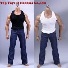 1/6 Scale action figure clothing set Vest jeans belt suitable for M35 muscle man body collection