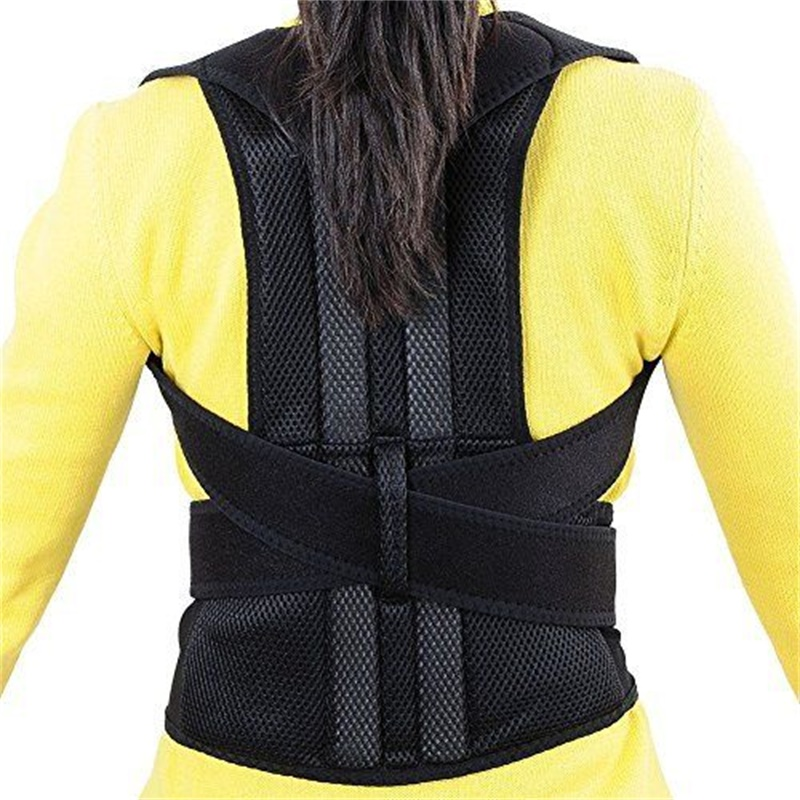 Men's Back Brace Support Back Posture Corrector Belts Lumbar Support Belt Strap Posture Corset Posture Correction for Men AOFIT