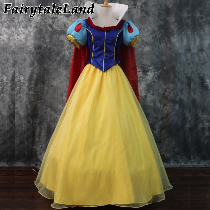 Princess Snow White Dress Carnival Halloween Costumes Snow White Cosplay Lace Up Dress Fancy Costume Custom made