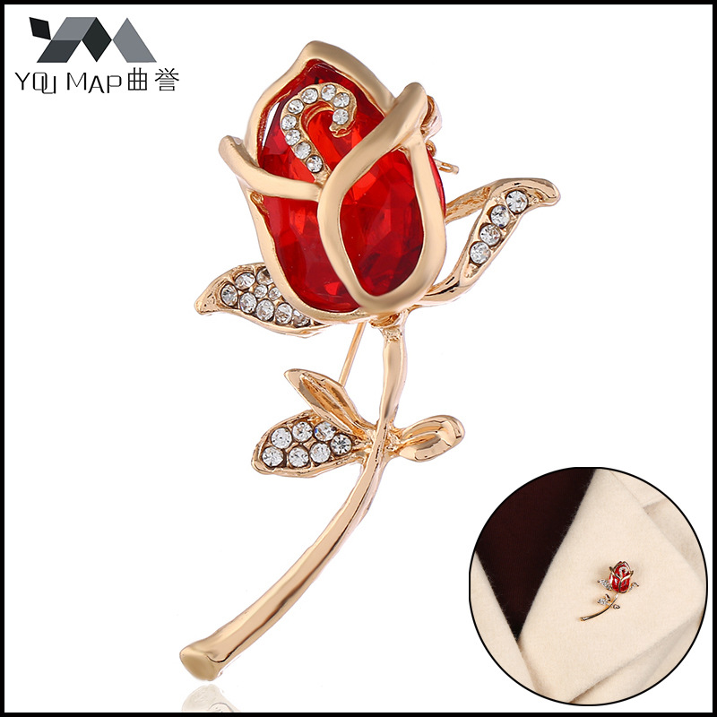 Conscientious 2019 New Elegant Red Rhinestone Tulip Flower Brooch Pin Crystal Costume Jewelry Clothes Accessories Valentines Day Gift Exquisite Craftsmanship; Back To Search Resultsjewelry & Accessories Brooches