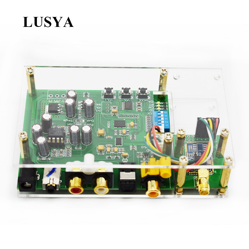 Der GüNstigste Preis Lusya Es9038q2m Dac I2s Spidf Csr8675 Aptx-hd Bluetooth 5,0 Modul Decoder Board In Fall Mit Antenne T0250 Klar Und GroßArtig In Der Art Tragbares Audio & Video Unterhaltungselektronik