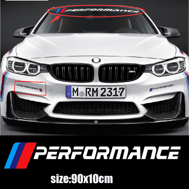 Kk New M Performance Car Windscreen Windshield Sticker For Bmw E30