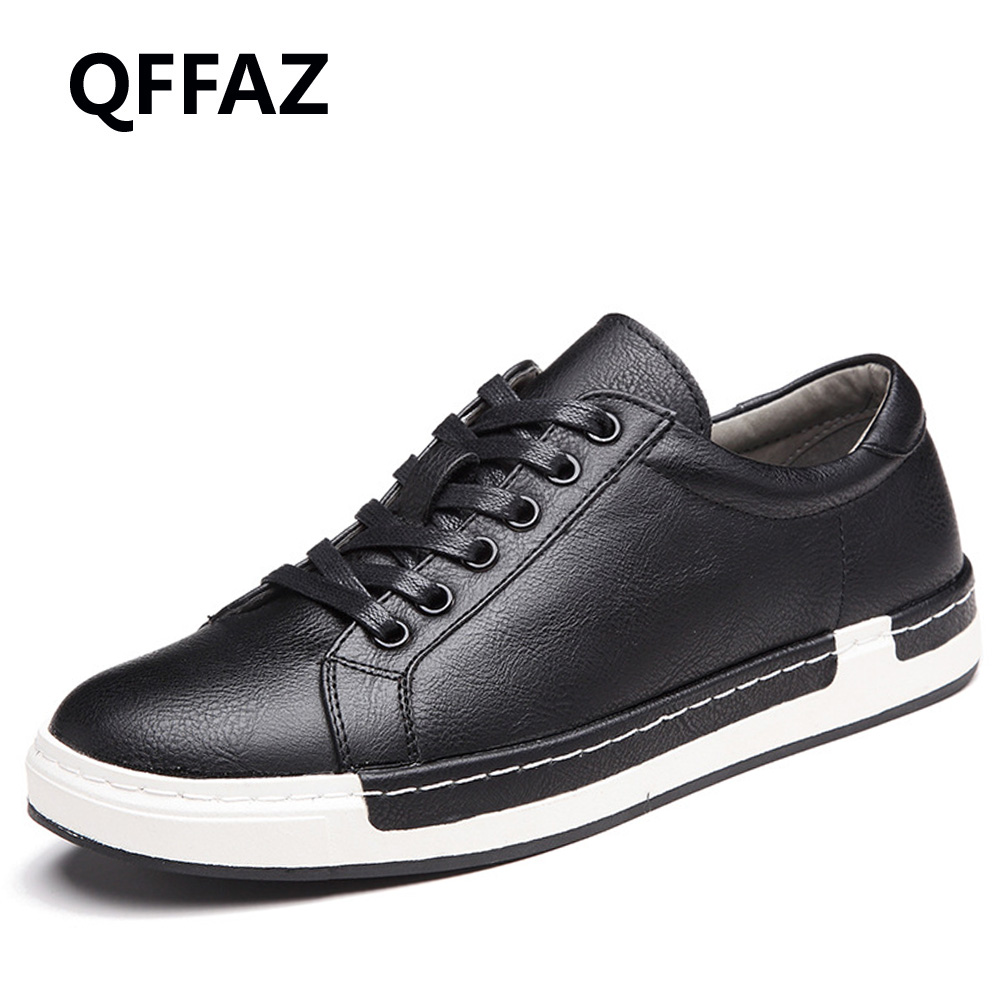 QFFAZ Autumn New Casual Shoes Mens Leather Flats Lace-Up Shoes Simple Stylish Male Shoes Large Sizes Oxford Shoes For Men 2016 new autumn winter man casual shoes sport male leisure chaussure laced up basket shoes for adults black